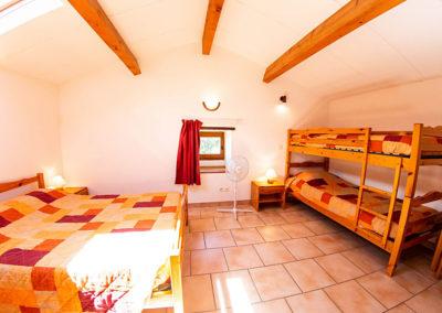 Chambre 4 personnes du Gîte Les 3 Eaux au Domaine de l'Astic en Ardèche