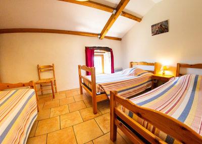 Une autre chambre du gîte Le Palmier au Domaine de l'Astic en Ardèche