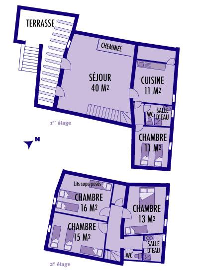 Plan du gite Le Figuier