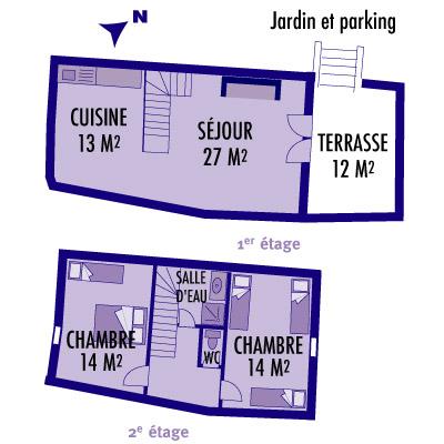 Plan du gîte L'Olivier