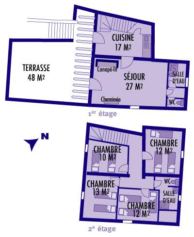 Plan du gîte Le Palmier