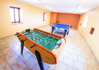 Salle de jeux du Gîte Les 3 Eaux au Domaine de l'Astic en Ardèche
